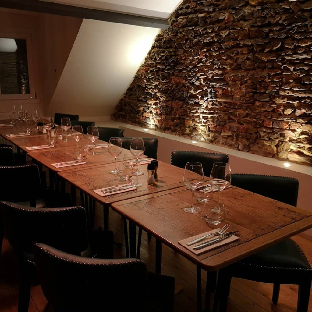 Tables available on the first floor of Courtine restaurant